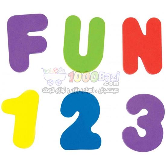 حروف و اعداد چسبانکی مخصوص حمام کودک Munchkin