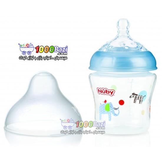 شیشه شیر 180 میل نوزاد طرح حیوانات Nuby