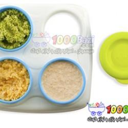 ظروف ذخیره ساز غذای کودک 4عددی Nuby