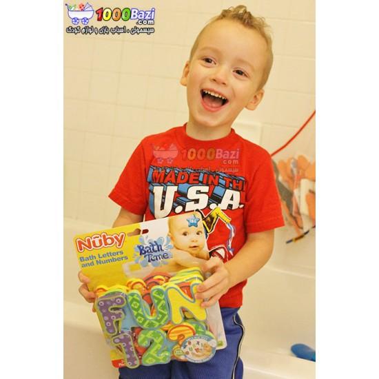 حروف و اعداد چسبانکی مخصوص حمام کودک Nuby