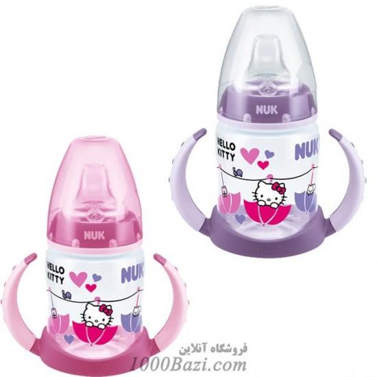 شیشه شیر آموزشی دسته دار هلوکیتی Nuk