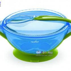 ظرف غذاخوری چسبنده همراه با قاشق نوویتا Nuvita