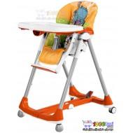 صندلی غذاخوری نارنجی طرح اسب آبی PegPerego