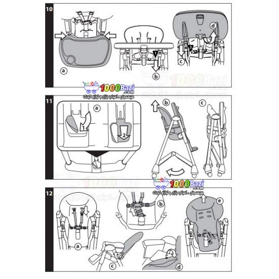 صندلی غذاخوری کودک طرح قهوه ای PegPerego
