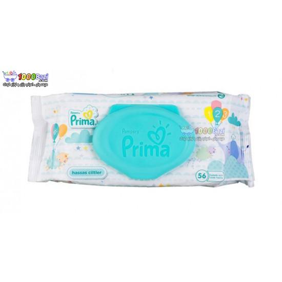 دستمال مرطوب تمیز کننده کودک 56 عددی Prima