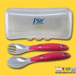 ست قاشق و چنگال با ظرف نگهدارنده Pur