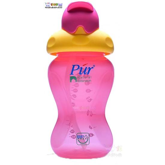 لیوان نوشیدنی نی دار کودک با درپوش محافظ Pur