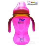 لیوان نوشیدنی نی دار کودک با دسته و درپوش محافظ Pur