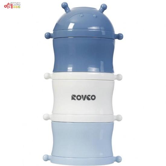 انباره غذا و شیر خشک سه طبقه نوزاد Rovco