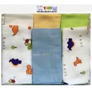 دستمال نخی 6 عددی نوزاد Sevibebe