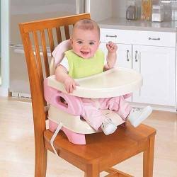 صندلی غذاخوری تاشو صورتی کودک سامر SUMMER
