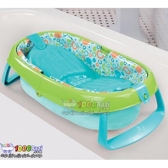 وان حمام پایه دار تاشو سبز کودک Summer