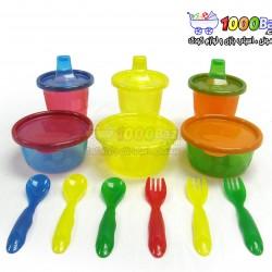 ست ظروف پلاستیکی 12 عددی کودک The First Years