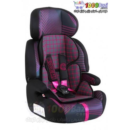 صندلی ماشین کوچی صورتی مشکی تا 12 سال Cosatto