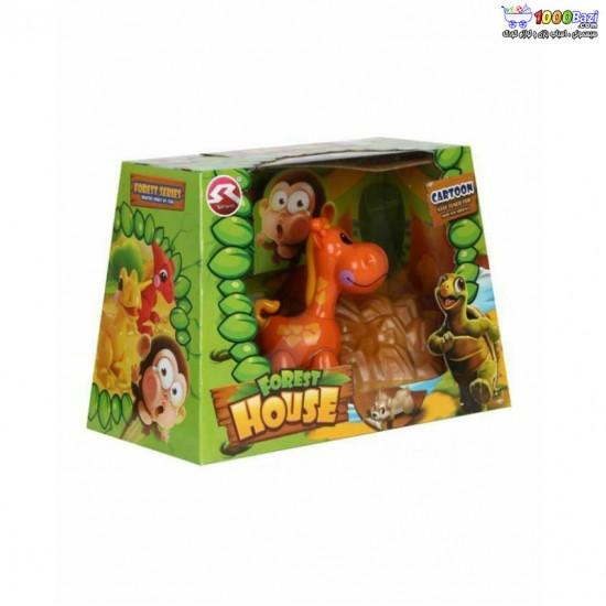 ست اسباب بازی جنگل طرح زرافه cute toys