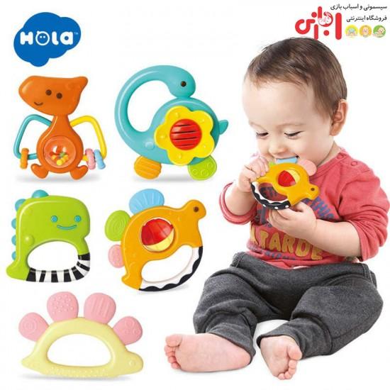 ست جغجغه دایناسور هولی تویز Huile Toys
