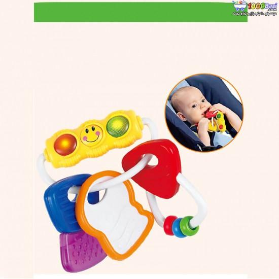 جغجغه و دندانگیر چراغ دار هولی تویز huile toys