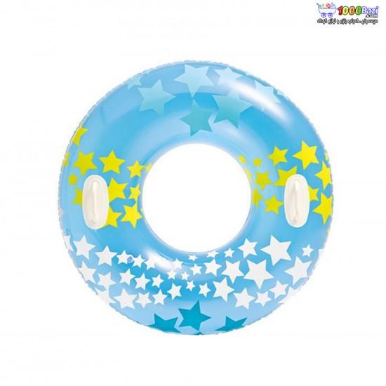 حلقه شنا طرح لاستیک و ستاره اینتکس Intex