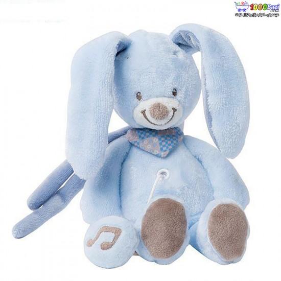 عروسک موزیکال کوچک خرگوش آبی ناتو nattou
