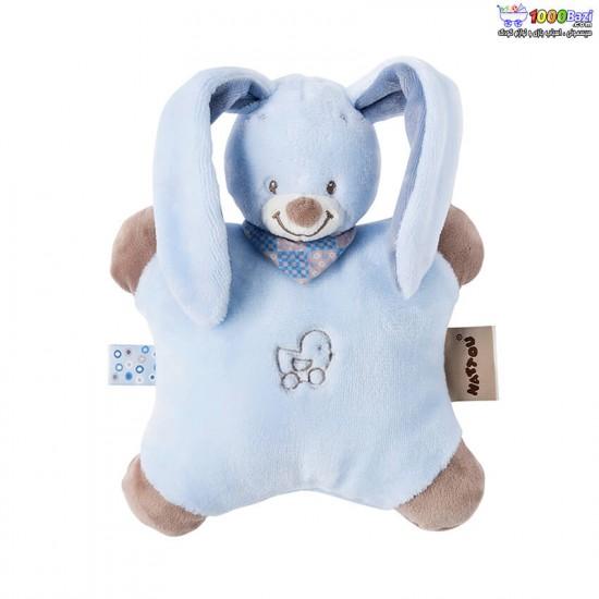 کوسن و عروسک خرگوش آبی Nattou