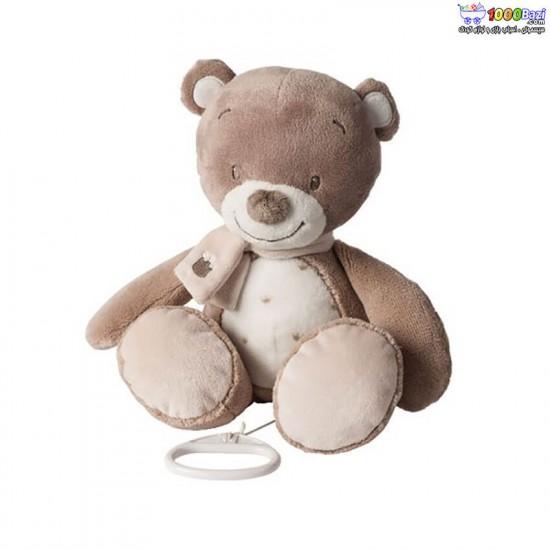 عروسک موزیکال خرس قهوه ای ناتو nattou