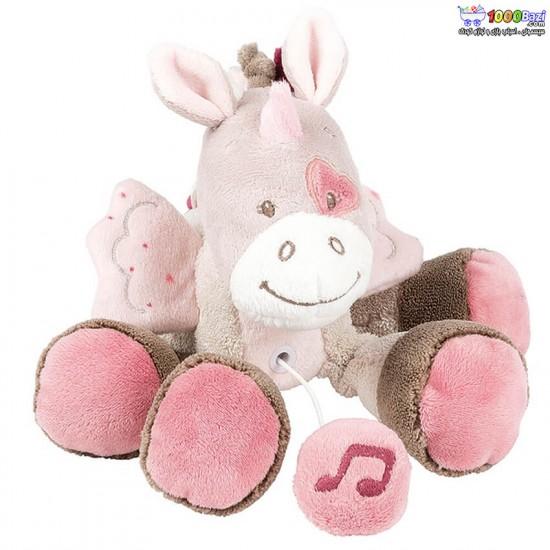 عروسک کوچک موزیکال اسب تک شاخ ناتو nattou