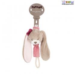 بند پستانک پولیشی خرگوش صورتی ناتو Nattou