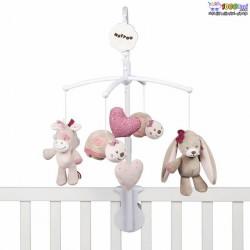آویز تخت موزیکال خرگوش صورتی ،لاک پشت اسب تک شاخ ناتو nattou