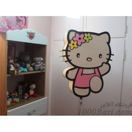 لوستر اتاق کودک مدل هلو کیتی صورتی