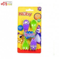 ست قاشق و چنگال کودک نوبی Nuby