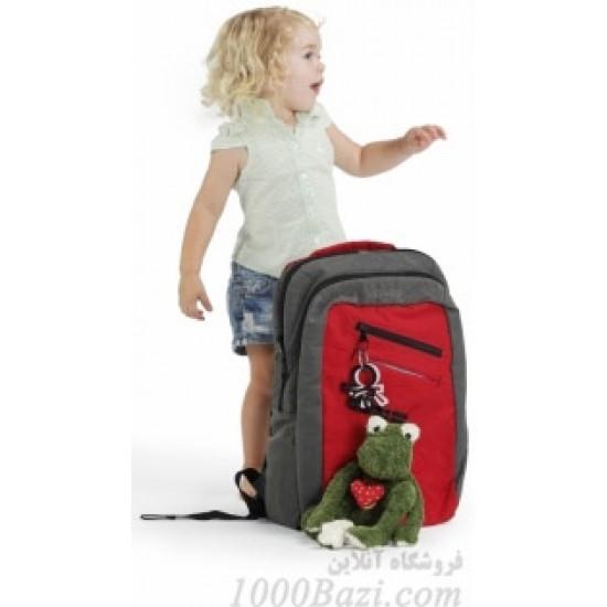 کوله پشتی لوازم نوزاد اوکی داگ خاکستری قرمز Okiedog Loft Shogun