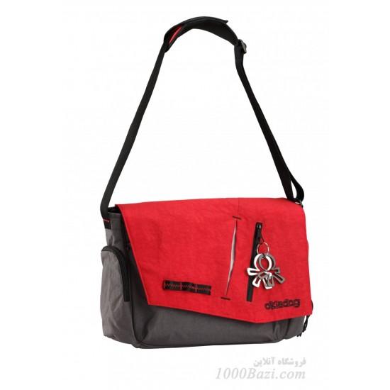 کیف لوازم بچه اوکی داگ خاکستری قرمز Okiedog Loft Samurai