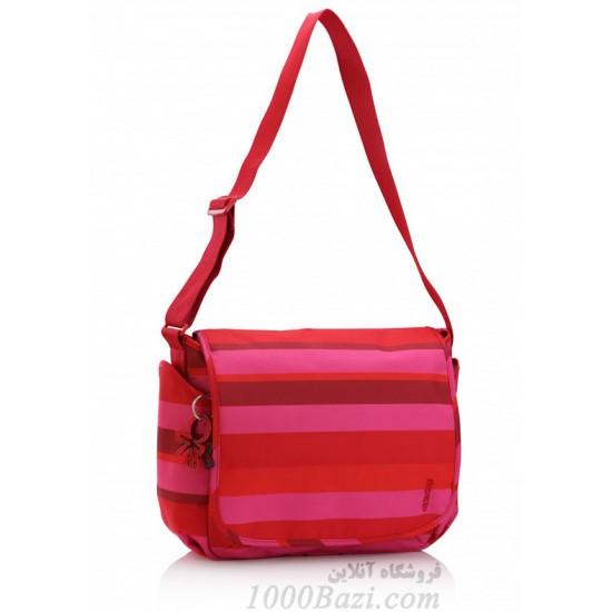 کیف لوازم کودک اوکی داگ قرمز صورتی Okiedog skagen Cupid