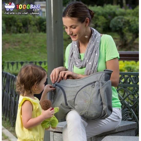 کیف لوازم نوزاد اوکی داگ خاکستری