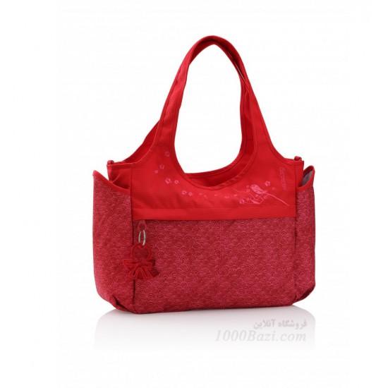 کیف لوازم نوزاد اوکی داگ قرمز Okiedog Sakawa celeb