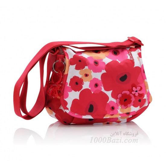 کیف لوازم نوزاد اوکی داگ قرمزصورتی Okiedog Genie