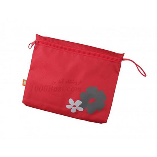 ساک لوازم بچه اوکی داگ قرمز گلدار Okiedog Flower Saha