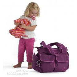 ساک لوازم نوزاد اوکی داگ بنفش مدل Okiedog Urban 2012 Sassy purple