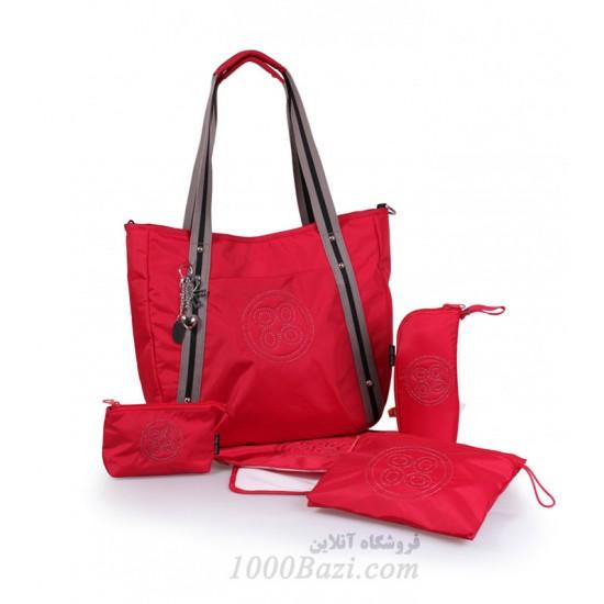 کیف وسایل نوزاد اوکی داگ قرمز Okiedog Cosmo classic Red