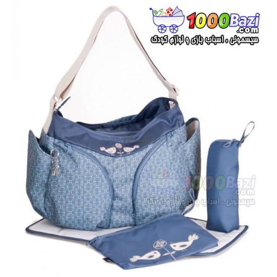 کیف لوازم نوزاد آبی Okiedog Mondo blue