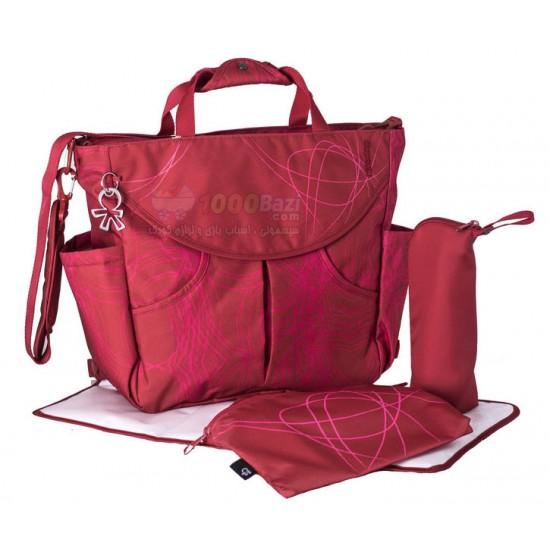 کیف کوله پشتی لوازم نوزاد قرمز طرح دار Okiedog Sumo 2017