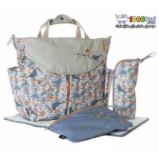 کیف لوازم نوزاد اوکی داگ آبی نارنجی