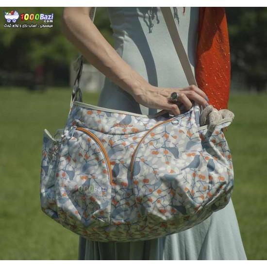 کیف لوازم نوزاد اوکی داگ مدل موندو آبی نارنجی