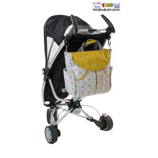 کیف لوازم نوزاد اوکی داگ خاکستری طلایی