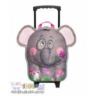 کیف بچه گانه دسته دار و چرخ دار طرح فیل Okiedog