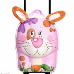 کیف بچه گانه دسته دار و چرخ دار طرح خرگوش Okiedog