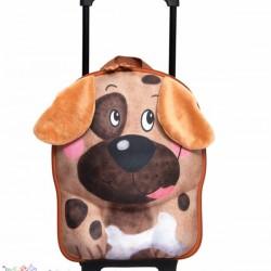 کیف بچه گانه دسته دار و چرخ دار طرح سگ Okiedog