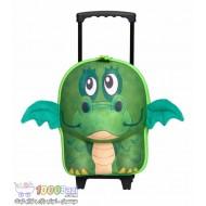 کیف بچه گانه دسته دار و چرخ دار طرح اژدهای سبز Okiedog