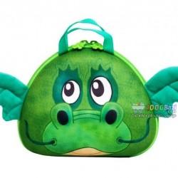 کیف رودوشی بچه گانه اوکی داگ مدل اژدها سبز Okiedog