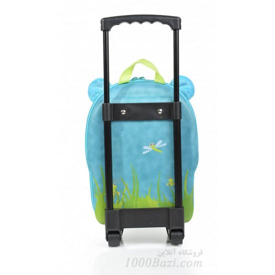 کیف بچه گانه دسته دار و چرخ دار طرح اسب آبی Okiedog